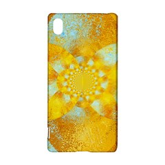 Gold Blue Abstract Blossom Sony Xperia Z3+ by designworld65