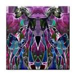 Sly Dog Modern Grunge Style Blue Pink Violet Tile Coasters
