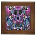 Sly Dog Modern Grunge Style Blue Pink Violet Framed Tiles