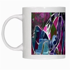 Sly Dog Modern Grunge Style Blue Pink Violet White Mugs by EDDArt
