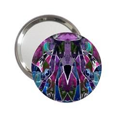 Sly Dog Modern Grunge Style Blue Pink Violet 2 25  Handbag Mirrors by EDDArt