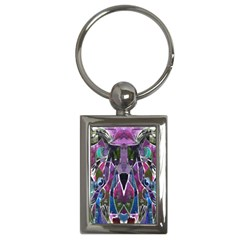 Sly Dog Modern Grunge Style Blue Pink Violet Key Chains (rectangle)  by EDDArt