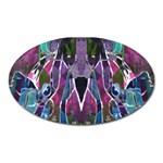 Sly Dog Modern Grunge Style Blue Pink Violet Oval Magnet