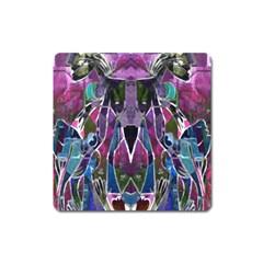 Sly Dog Modern Grunge Style Blue Pink Violet Square Magnet by EDDArt