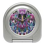 Sly Dog Modern Grunge Style Blue Pink Violet Travel Alarm Clocks
