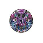 Sly Dog Modern Grunge Style Blue Pink Violet Hat Clip Ball Marker (4 pack)