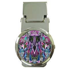 Sly Dog Modern Grunge Style Blue Pink Violet Money Clip Watches by EDDArt