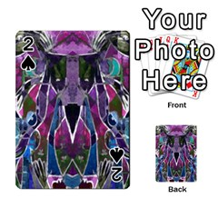 Sly Dog Modern Grunge Style Blue Pink Violet Playing Cards 54 Designs  by EDDArt