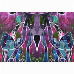 Sly Dog Modern Grunge Style Blue Pink Violet Collage Prints by EDDArt