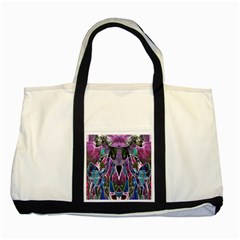 Sly Dog Modern Grunge Style Blue Pink Violet Two Tone Tote Bag by EDDArt