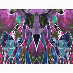 Sly Dog Modern Grunge Style Blue Pink Violet Canvas 36  X 48   by EDDArt
