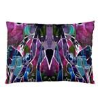 Sly Dog Modern Grunge Style Blue Pink Violet Pillow Case