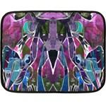 Sly Dog Modern Grunge Style Blue Pink Violet Fleece Blanket (Mini)
