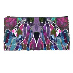 Sly Dog Modern Grunge Style Blue Pink Violet Pencil Cases by EDDArt