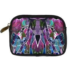 Sly Dog Modern Grunge Style Blue Pink Violet Digital Camera Cases by EDDArt