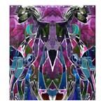 Sly Dog Modern Grunge Style Blue Pink Violet Shower Curtain 66  x 72  (Large)