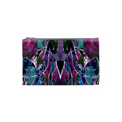 Sly Dog Modern Grunge Style Blue Pink Violet Cosmetic Bag (small)  by EDDArt