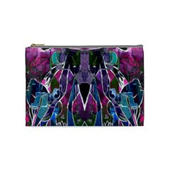 Sly Dog Modern Grunge Style Blue Pink Violet Cosmetic Bag (medium)  by EDDArt