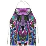 Sly Dog Modern Grunge Style Blue Pink Violet Full Print Aprons