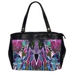Sly Dog Modern Grunge Style Blue Pink Violet Office Handbags (2 Sides)