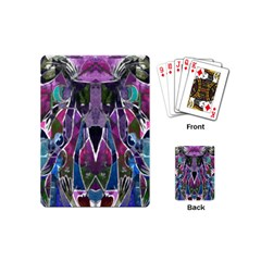 Sly Dog Modern Grunge Style Blue Pink Violet Playing Cards (mini)  by EDDArt