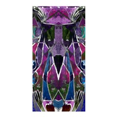 Sly Dog Modern Grunge Style Blue Pink Violet Shower Curtain 36  X 72  (stall)  by EDDArt