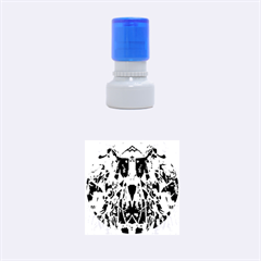 Sly Dog Modern Grunge Style Blue Pink Violet Rubber Round Stamps (small) by EDDArt