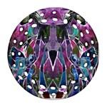 Sly Dog Modern Grunge Style Blue Pink Violet Ornament (Round Filigree)