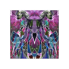 Sly Dog Modern Grunge Style Blue Pink Violet Acrylic Tangram Puzzle (4  X 4 ) by EDDArt