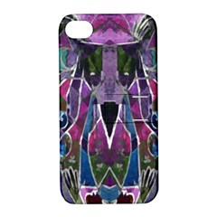 Sly Dog Modern Grunge Style Blue Pink Violet Apple Iphone 4/4s Hardshell Case With Stand by EDDArt