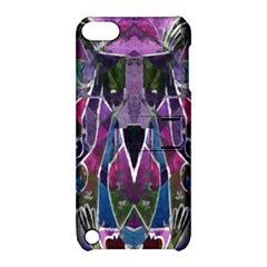 Sly Dog Modern Grunge Style Blue Pink Violet Apple Ipod Touch 5 Hardshell Case With Stand by EDDArt
