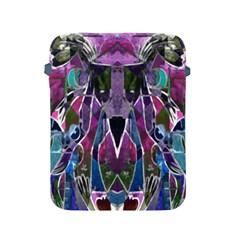 Sly Dog Modern Grunge Style Blue Pink Violet Apple Ipad 2/3/4 Protective Soft Cases by EDDArt