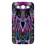 Sly Dog Modern Grunge Style Blue Pink Violet Samsung Galaxy Mega 5.8 I9152 Hardshell Case