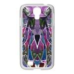Sly Dog Modern Grunge Style Blue Pink Violet Samsung GALAXY S4 I9500/ I9505 Case (White)