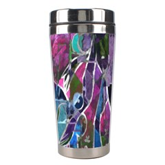 Sly Dog Modern Grunge Style Blue Pink Violet Stainless Steel Travel Tumblers by EDDArt