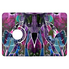 Sly Dog Modern Grunge Style Blue Pink Violet Kindle Fire Hdx Flip 360 Case by EDDArt