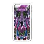 Sly Dog Modern Grunge Style Blue Pink Violet Apple iPhone 6/6S White Enamel Case