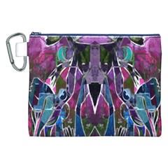 Sly Dog Modern Grunge Style Blue Pink Violet Canvas Cosmetic Bag (xxl) by EDDArt