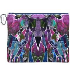 Sly Dog Modern Grunge Style Blue Pink Violet Canvas Cosmetic Bag (xxxl) by EDDArt