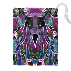 Sly Dog Modern Grunge Style Blue Pink Violet Drawstring Pouches (xxl) by EDDArt