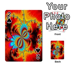 Crazy Mandelbrot Fractal Red Yellow Turquoise Playing Cards 54 Designs  by EDDArt