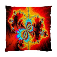 Crazy Mandelbrot Fractal Red Yellow Turquoise Standard Cushion Case (two Sides) by EDDArt