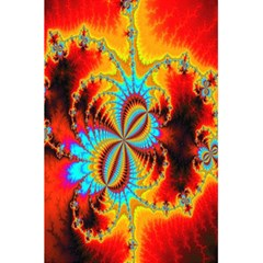 Crazy Mandelbrot Fractal Red Yellow Turquoise 5 5  X 8 5  Notebooks by EDDArt