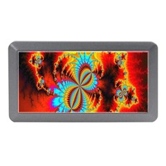 Crazy Mandelbrot Fractal Red Yellow Turquoise Memory Card Reader (mini) by EDDArt