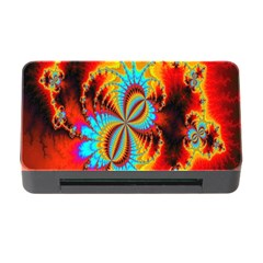 Crazy Mandelbrot Fractal Red Yellow Turquoise Memory Card Reader With Cf by EDDArt