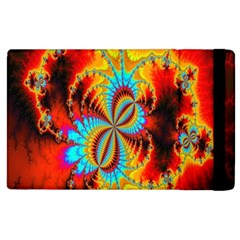 Crazy Mandelbrot Fractal Red Yellow Turquoise Apple Ipad 3/4 Flip Case by EDDArt