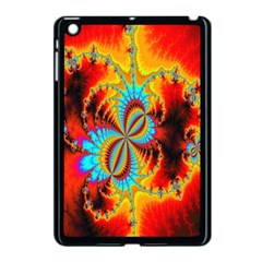 Crazy Mandelbrot Fractal Red Yellow Turquoise Apple Ipad Mini Case (black) by EDDArt