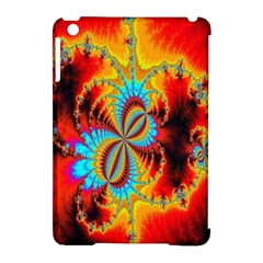 Crazy Mandelbrot Fractal Red Yellow Turquoise Apple Ipad Mini Hardshell Case (compatible With Smart Cover) by EDDArt