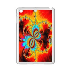 Crazy Mandelbrot Fractal Red Yellow Turquoise Ipad Mini 2 Enamel Coated Cases by EDDArt
