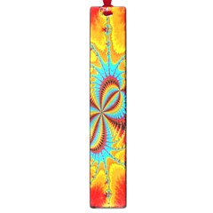 Crazy Mandelbrot Fractal Red Yellow Turquoise Large Book Marks by EDDArt
